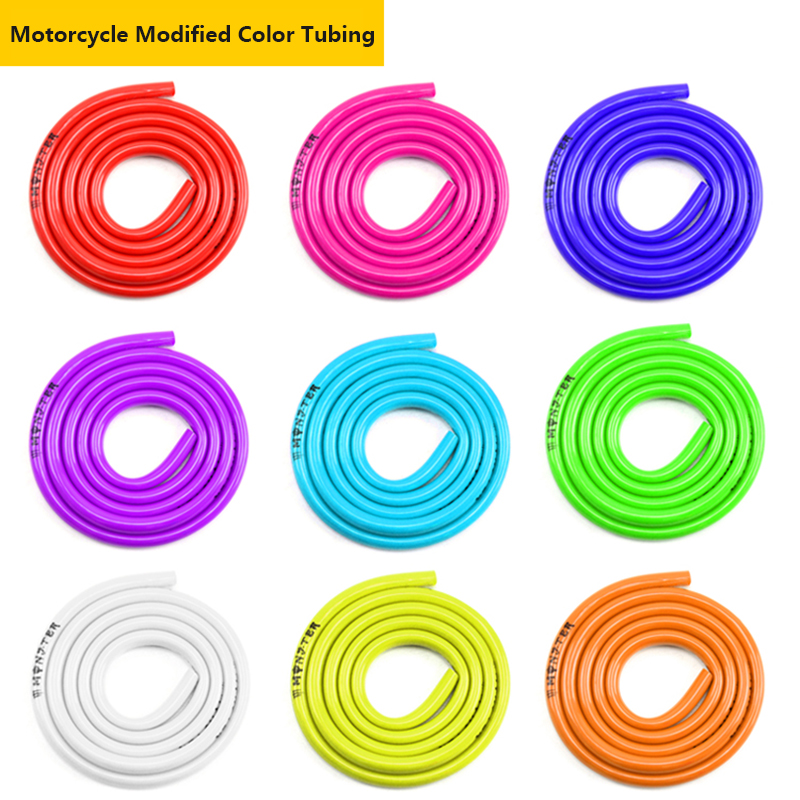 1 Meter Motorcycle fuel filter Motorbike dirt Hose Line Petrol Pipe Fuel Gas Oil Tube Cafe Racer Universal Hose Modified