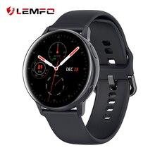 LEMFO SG2 akıllı saat erkekler kadınlar spor sağlık IP68 su geçirmez kablosuz şarj 390*390 HD Amoled moda Smartwatch Android için
