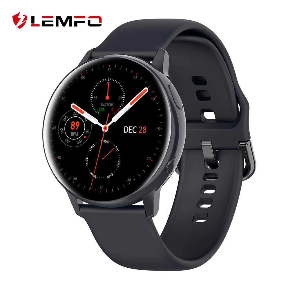 LEMFO SG2 montre intelligente hommes femmes Sport santé IP68 étanche sans fil charge 390*390 HD Amoled mode Smartwatch pour Android