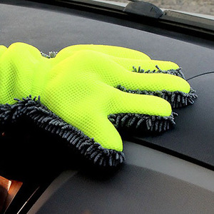 5 Finger Car Washing Gloves Soft Multifunction Double-Sided Cleaning For Car Motorbike Washing Drying Towels Car Wash