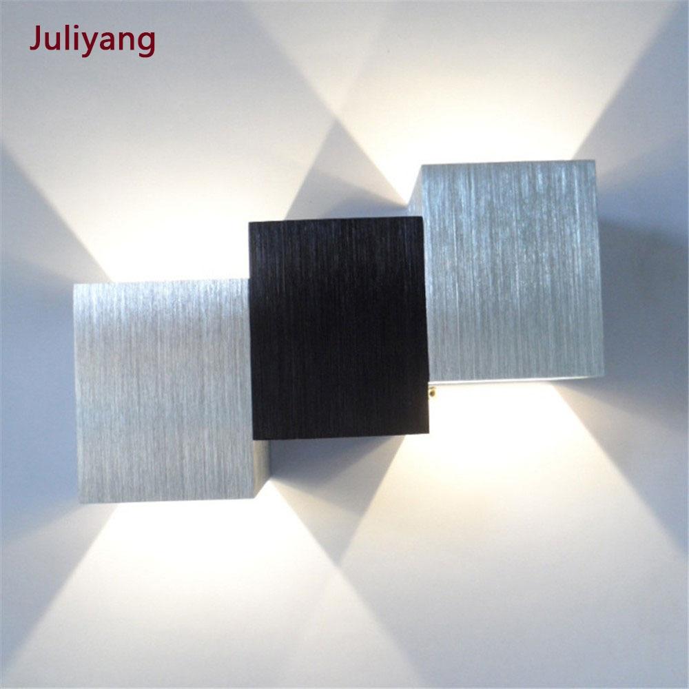 Ac90v-260v Simple And Creative Led Wall Lamp Corridor Bedroom Bedside Bar KTV Background Light Effect Sconce