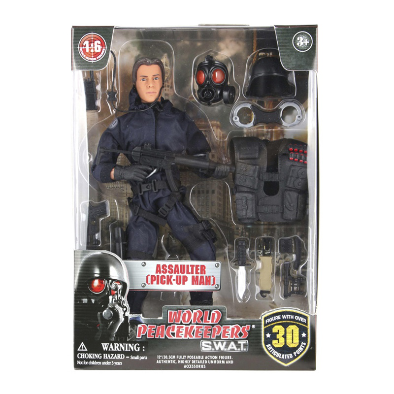 1/6 World Peacekeepers Action Figure SWAT  With Accessories Assaulter Pick-up Point Man Soldier Military Model Toys