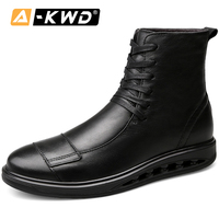 High Quality Military Boots Genuine Leather Werkschoenen Autumn Beathable Shoes for Men High Top Men's Boots Single Men Sneakers