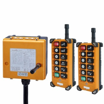 up down pushbutton crane hoist switch rainproof cob 63a 12V 24V 36V 220V 380V Wireless Crane Remote Control F23-A++S Industrial Remote Control Hoist Crane Push Button Switch