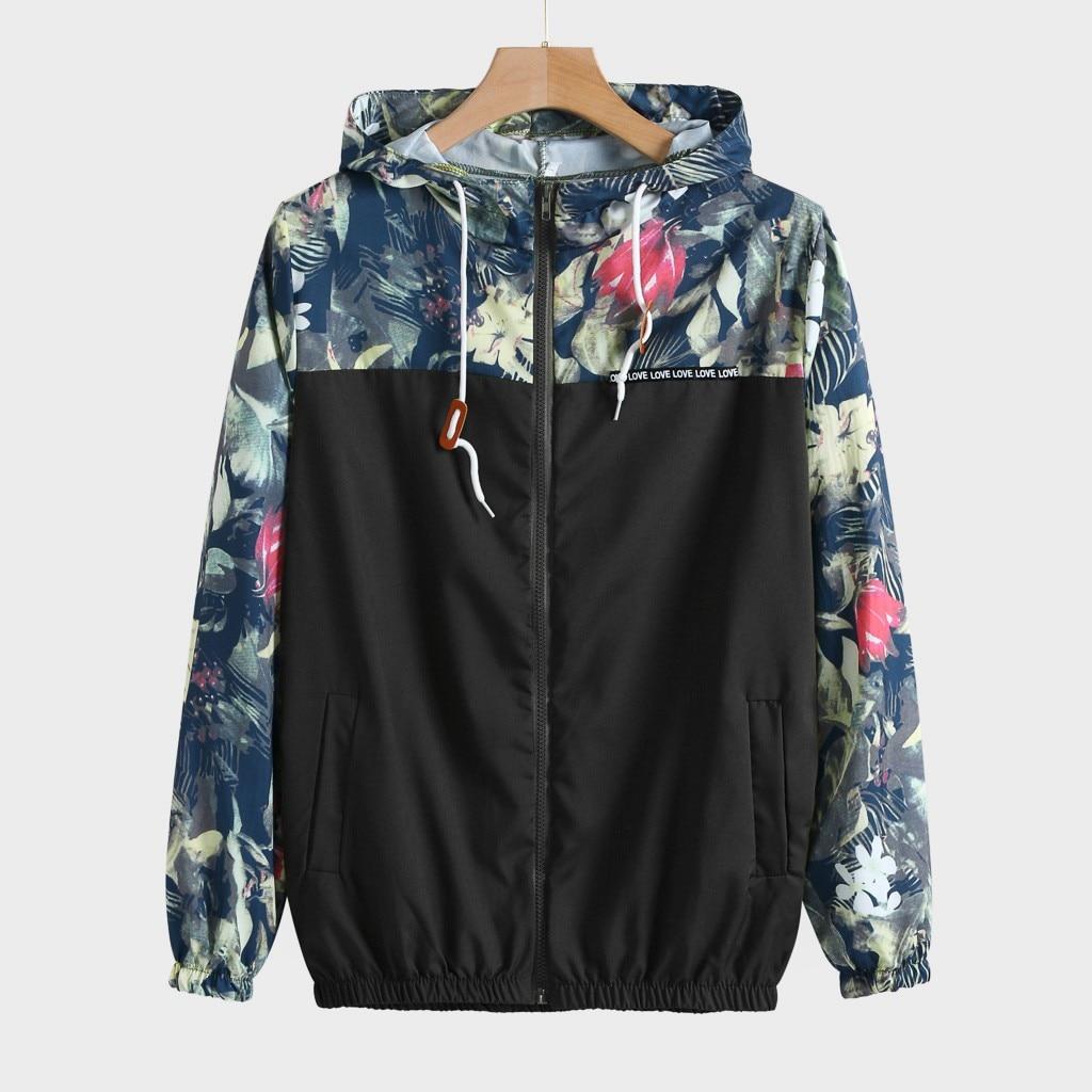 2020 Fashion Women's Hooded Jackets Causal Zipper Lightweight Jacke Sweatshirt Printed Shirt Women Ladies grils Blouse top