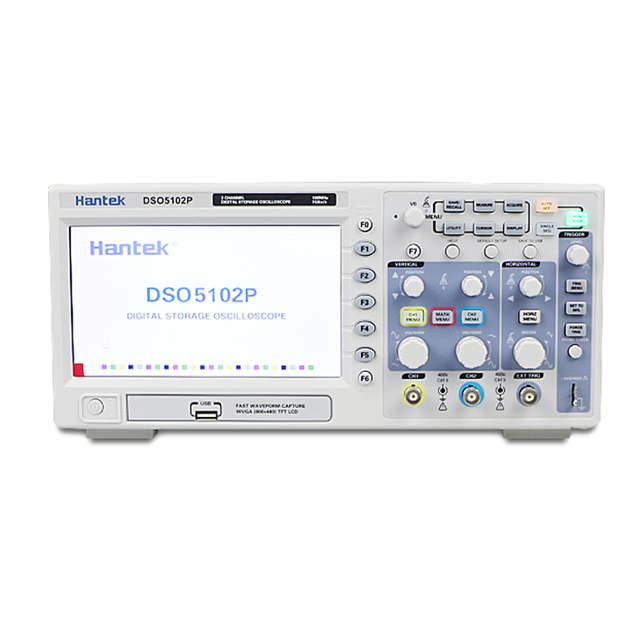 Digital Oscilloscope Hantek DSO5102P Portable 100MHz 2Channels 1GSa/s Record Length 40K USB Osciloscopio Handheld Oscilloscopes
