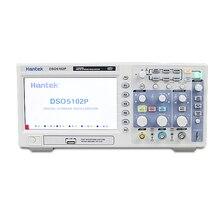 Digitale Oszilloskop Hantek DSO5102P Tragbare 100MHz 2 Kanäle 1GSa/s Record Länge 40K USB Osciloscopio Im Hand