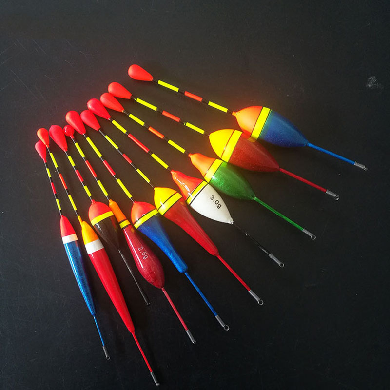 10Pcs  Fishing Floats Set Buoy Bobber Indicator Light Stick Floats Fluctuate