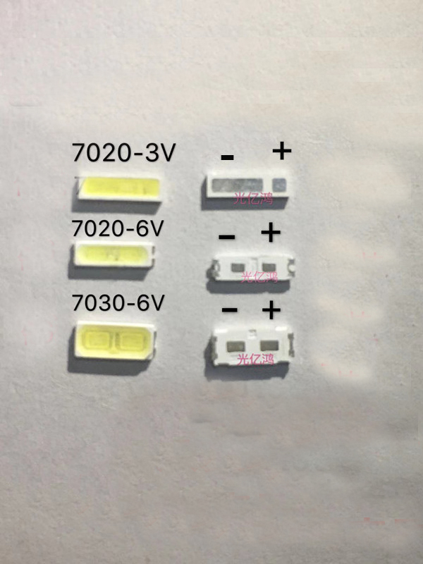 <font><b>SMD</b></font> 7020 7030 <font><b>LED</b></font> Cold white <font><b>LED</b></font> Diode <font><b>1W</b></font> <font><b>3V</b></font> 6V 7020 <font><b>LED</b></font> Lamp <font><b>leds</b></font> for <font><b>tv</b></font> <font><b>lg</b></font> image