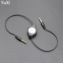 YuXi Telescopic AUX audio cable 3.5 Jack Aux Cable 3.5 mm to 3.5mm Audio Cable Male to Male Kabel Gold Plug Car Aux Cord n celega matinee aux alpes op 273