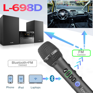 Image 5 - Lewinner L 698D professional 20W portable wireless Carpool Bluetooth karaoke microphone speaker with big power for Sing/Meeting