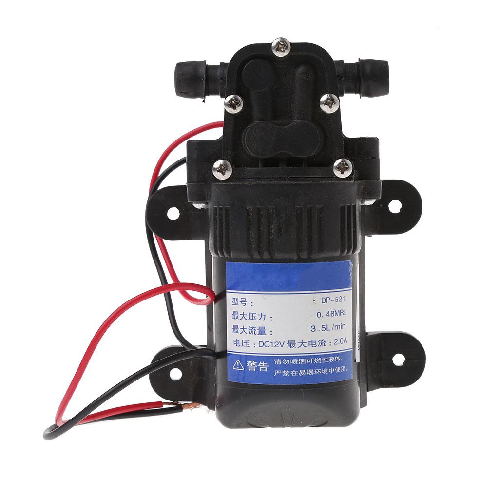 DC 12V 3.5L/Min 0.48MPa 70 PSI Diaphragm High Pressure Self Priming Water Pump Drop Ship Support