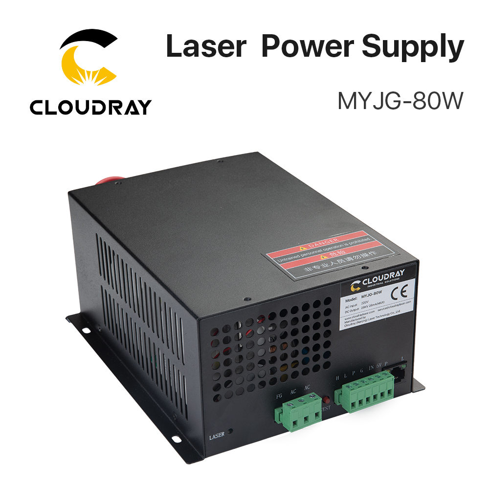 Zasilacz laserowy Cloudray 80W CO2 do grawerki laserowej CO2 Kategoria MYJG-80W