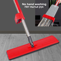 Free Hand Washing Flat Mop Lazy 360 Rotating Magic Mop With Squeezing Strong Water Absorption Floor Cleaner Household Cleaning|Mops| |  -