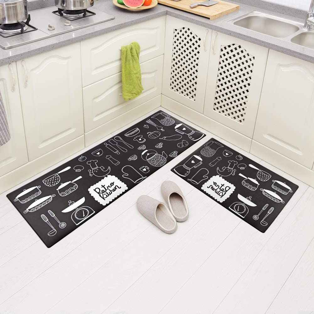 Long Kitchen Mat Pvc Leather Carpet Anti Skid And Oil Proof Kitchen Rug Anti Fatigue Home Floor Mats Can Be Wiped No Clean Mat Aliexpress