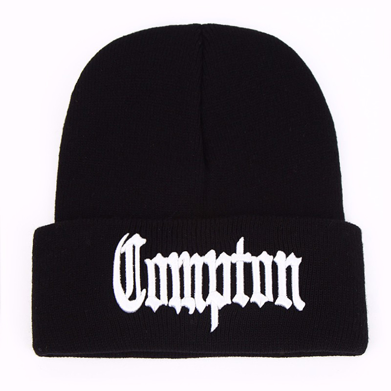 New West beach <font><b>gangsta</b></font> Compton Eazy-E Winter Warm Fashion Beanie Hats Knitted bonnet Caps Hip Hop Gorros Knit Hats Men Women image
