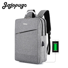 Jojopugo 2020 Unisex Backpack USB Charging Laptop Men Backpack Oxford Male Business Bag 15.6 Inch Laptop Back Packs