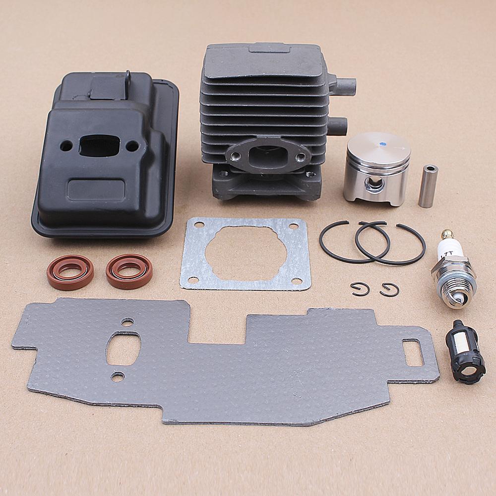 34MM Cylinder Piston Exhaust Muffler Gasket Kit for Stihl FS75 FS80 FS85 Trimmer 4137-140-0603 Oil Seal Parts