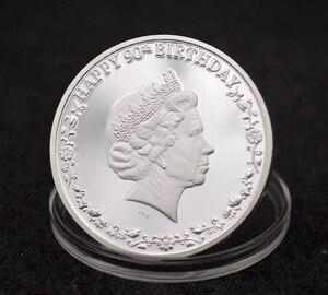 Королева одна унция Элизабет день рождения 90-й день рождения Посеребренная монета Канада новые сувенирные монеты праздничный подарок