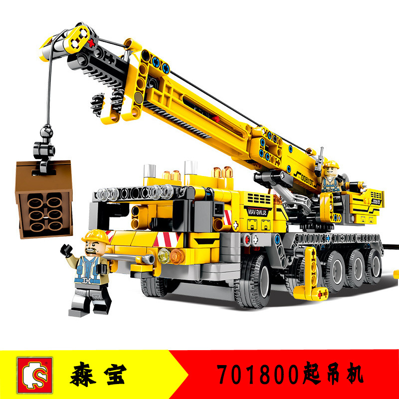 701800 for series Mobile Crane MK II Sets Building Blocks Bricks <font><b>42009</b></font> Educational Technique Toys For Children no box image