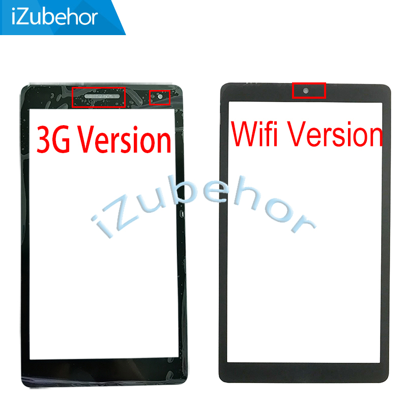 Black / White For Huawei Mediapad T3 7.0 3G Or Wifi Front Outer Touch Glass Sensor Lens Panel And Tempered Glass Protector Film