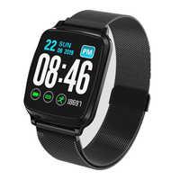 Inteligentna opaska na rękę pełny ekran dotykowy pulsometr monitor ciśnienia krwi inteligentny zegarek bransoletka fitness wodoodporna opaska sportowa
