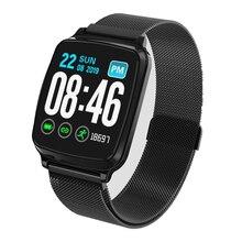 Intelligente wristband dello schermo di tocco Pieno di Frequenza Cardiaca tracker Monitor di pressione sanguigna Intelligente Vigilanza di Forma Fisica Del Braccialetto Impermeabile fascia di Sport