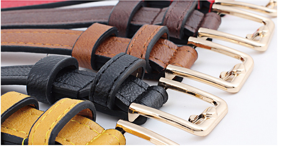 Women Belt Fashion Hollow Decoration Women Leather Belt Solid Color Casual Retro Pin Buckle Women Cowboy Belt