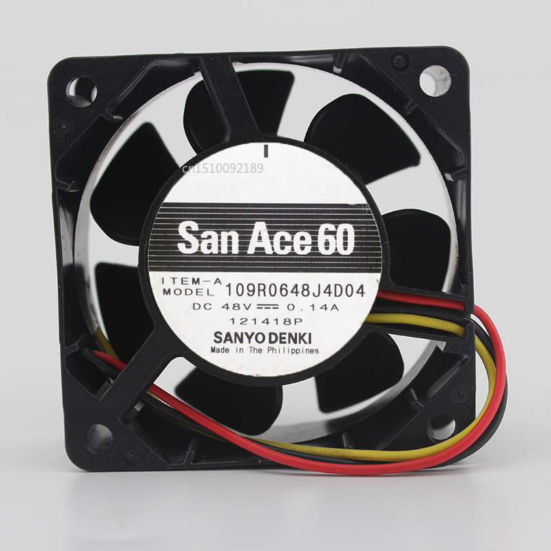 For Sanyo 109R0648J4D04 6025 60*60*25mm DC 48V 0.14A Axial Cooling Fan Free Shipping