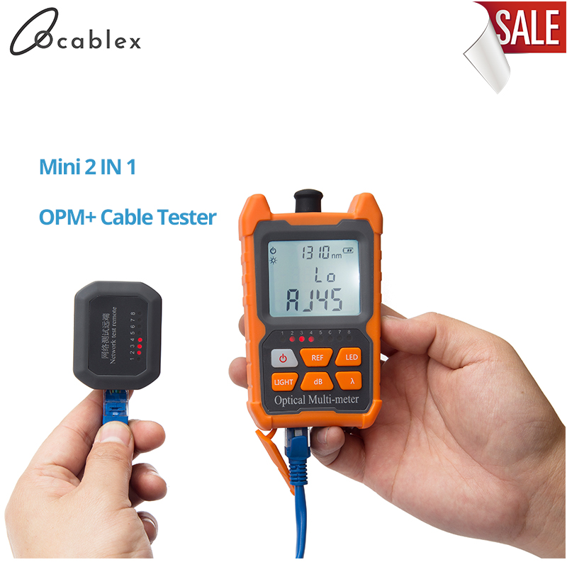 Ftth 2-in-1 Handheld Fiber Mini Optical Power Meter -70+6 DBm With Network Cable Test Function Free Shipping