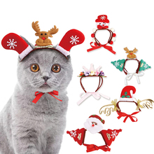 Hats Headwear Cat Cosplay Christmas Halloween Pet-Puppy Cats Santa Dog Dressing-Up-Props