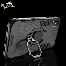 KISSCASE Original Shockproof Case For iPhone 6S 6 7 8 Plus XR XS Max Finger Ring Holder 11 Pro