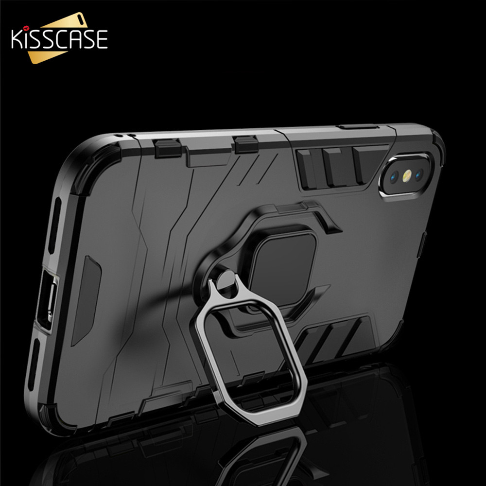 KISSCASE Original Shockproof <font><b>Case</b></font> <font><b>For</b></font> <font><b>iPhone</b></font> 6S 6 7 8 7 Plus XR XS Max Finger Ring Holder <font><b>Case</b></font> <font><b>For</b></font> <font><b>iPhone</b></font> 11 Pro Max 11 Pro 11 image