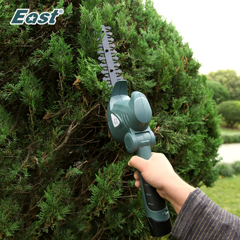 East 10.8V Electric Hedge Trimmer 2 in 1 Li-ion Cordless Grass Lawn Mower Rechargeable Garden Pruning Shears ET1007C - discount item  41% OFF Garden Tools
