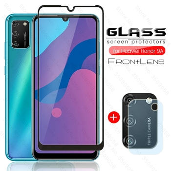 Перейти на Алиэкспресс и купить Защитное стекло для экрана honor 9a, стекло 2-в-1 для honor 9a 2020 honr 9 a a9, Защитная пленка для экрана телефона с экраном 6,3 дюйма, caso xonor 9a