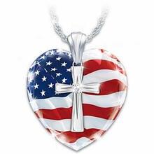 Популярное модное роскошное ожерелье с крестом любви и американским