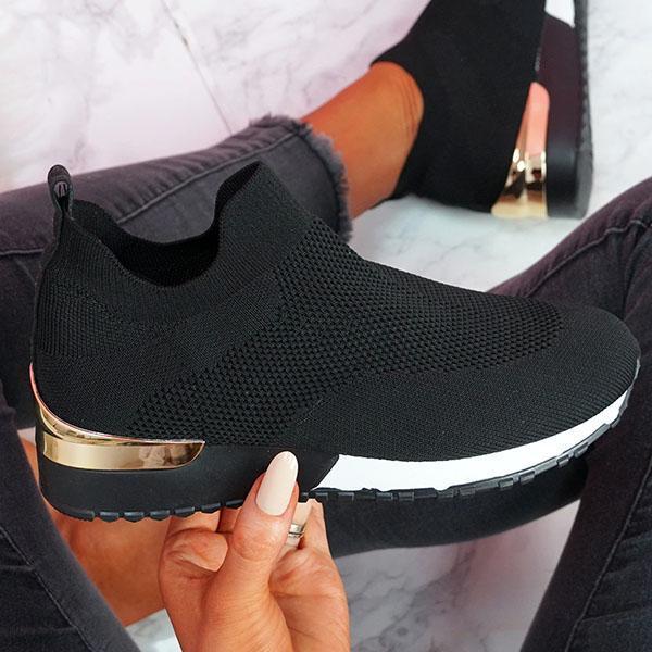 Tênis mulher vulcanizado sapatos senhoras cor sólida deslizamento-em tênis para o sexo feminino sapatos casuais calçados esportivos 2021 moda mujer 3