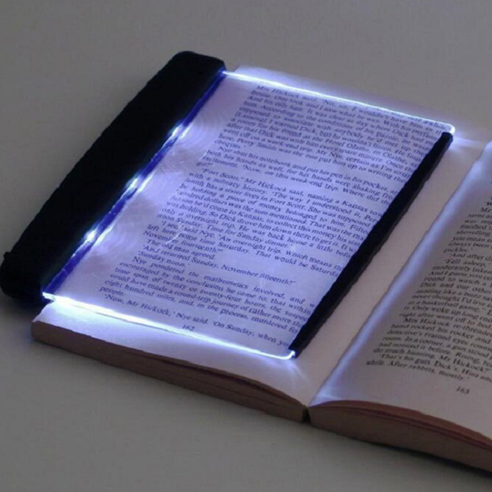 Book Light Creative LED Desk Lamps Reading Night Light Flat Plate Portable Car Travel Panel Led For Home Indoor Bedroom