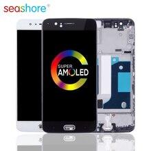 100% оригинал для OnePlus 5 LCD кодирующий преобразователь сенсорного экрана в сборе для Oneplus 5 дисплей с рамкой Замена 1 + 5 экран A5000 LCD