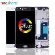 100% Originele Voor Oneplus 5 Lcd Touch Screen Digitizer Vergadering Voor Oneplus 5 Display Met Frame Vervanging 1 + 5 screen A5000 Lcd