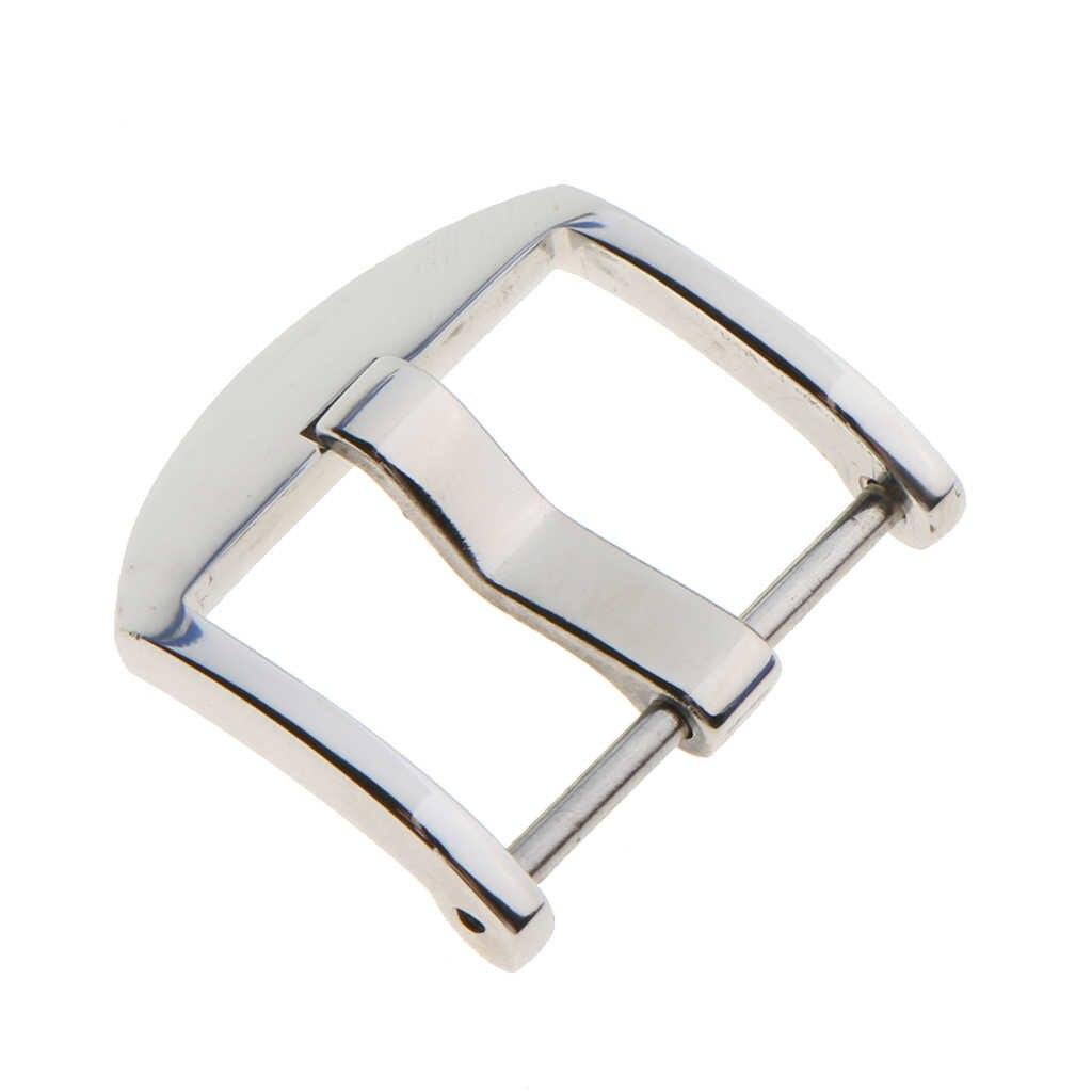20mm 22mm trwałe skórzane pas ze stali nierdzewnej klamra mężczyźni akcesoria polerowanie klamra Pin narzędzia na pasek do zegarka zespół