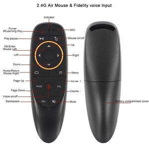 Image 3 - G10S Air Muis Google Voice 2.4G Draadloze Ir Leren Gyroscoop Afstandsbediening Voor Smart Android Tv Box H96 Max a95X F3 Tvbox