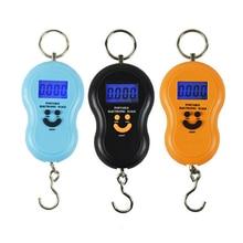 Junejour 50 кг/10 г ЖК-цифровые весы портативные подвесные весы с подсветкой для рыбалки Карманные электронные весы для багажа мини-весы
