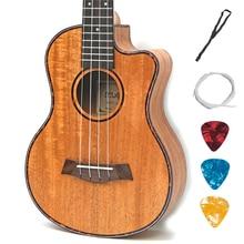 Mahogany Ukulele Music-Instrument Guitarra Tenor Acoustic Electric 4-Strings 23-26inch