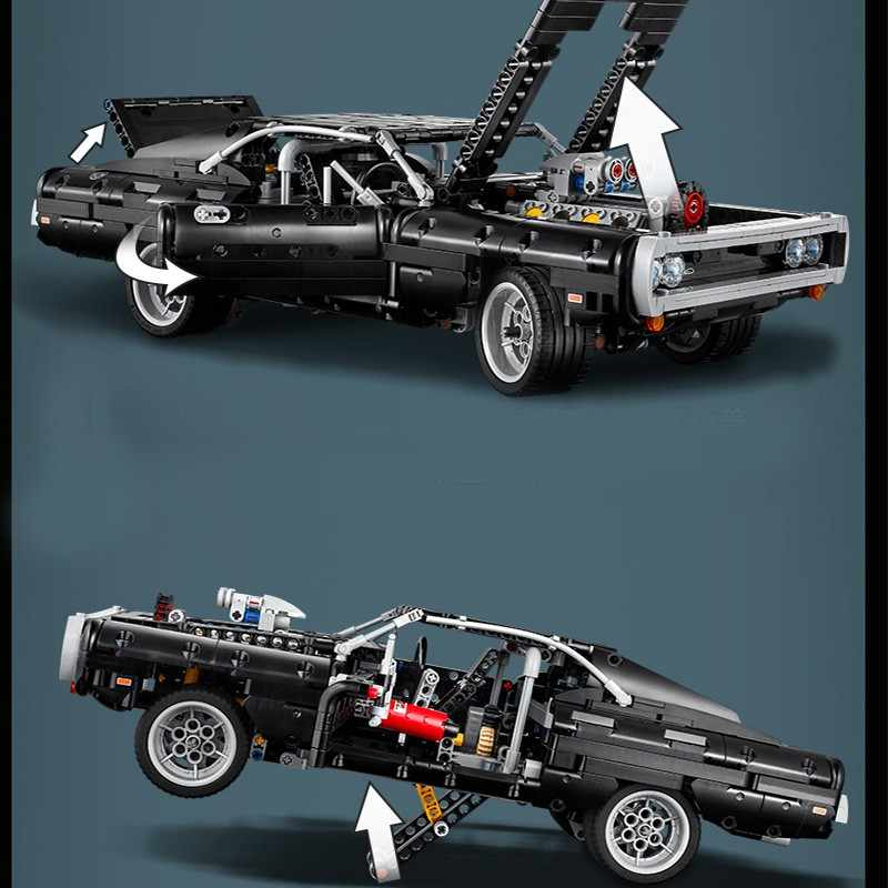 Building Blocks Technic Set Creator Car Dom/'s Dodged Charger Super Racing Bricks