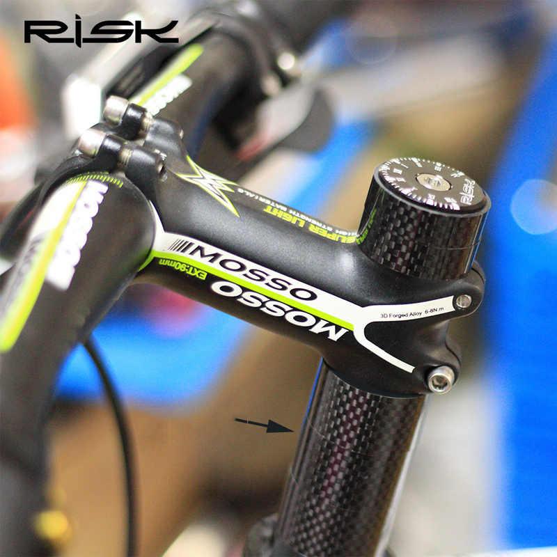 Риска велосипедная Рама из углеродного волокна передняя вилка гарнитура шайба MTB дорожный велосипед 28,6 мм CNC прокладка 3/5/10/15/20 мм руль гарнитура труба из углеродистого волокна 3k Spacer