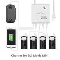 For Mavic Mini Drone 6 in 1 Battery Charger with USB Port Remote Control Charging Hub for DJI Mavic Mini  Home Charger Accessory|Drone Batterys| |  -