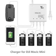 Mavic Mini Drone 6 in 1 pil şarj cihazı USB portu ile uzaktan kumanda şarj göbeği DJI Mavic Mini ev şarj cihazı aksesuar