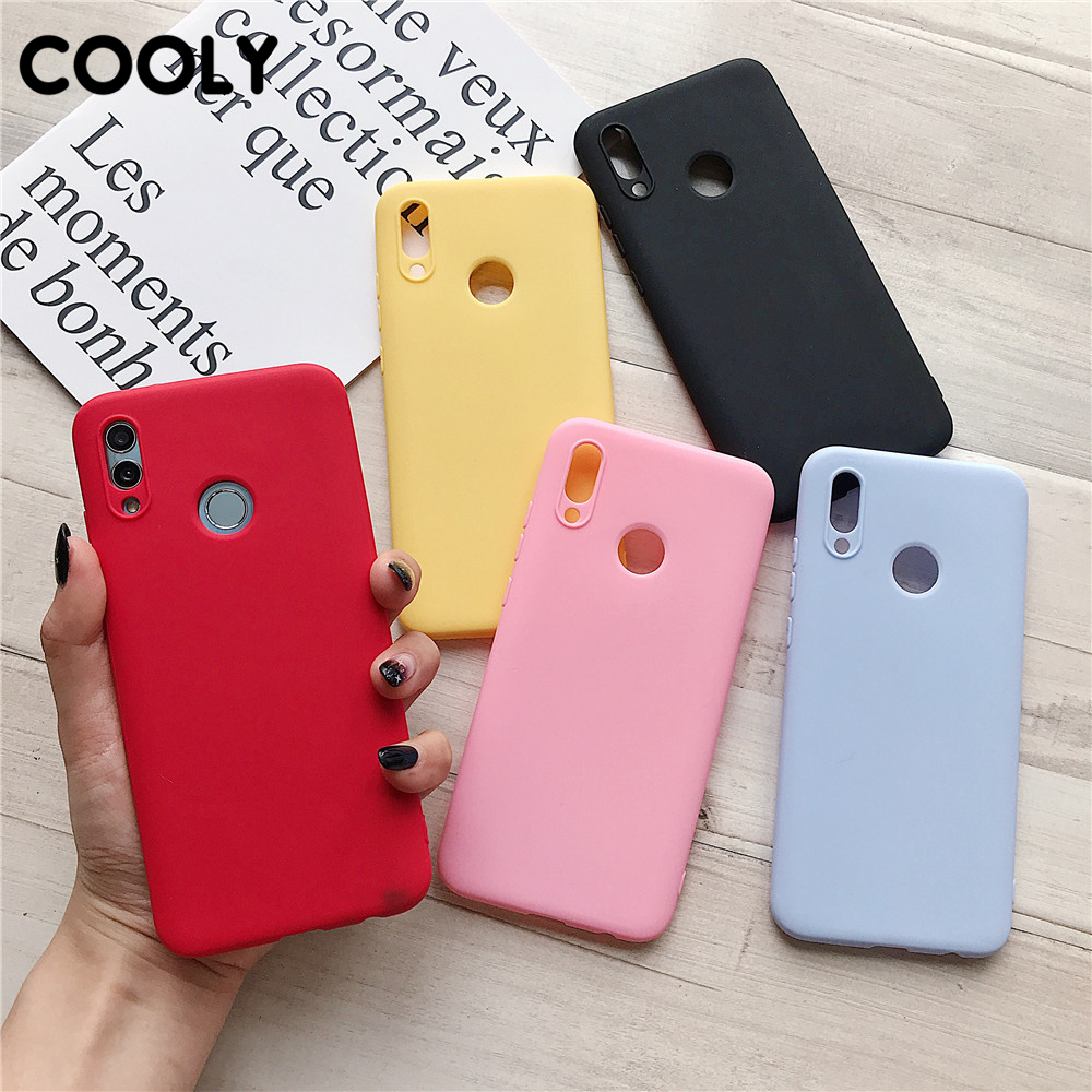 COOLY Candy Color Case sFor Huawei Honor 8A 8C 8X 9 9 Lite 9X 7A Pro 10 10i 20 20 Pro Back Cover Soft TPU Silicone Phone Coque(China)