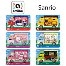 6Pcs Sanrxo X S1~S6 Animal Croxxing Card Full 6Pcs/set Of Animal Crossing Sanrioed Amxxbo NFC Ntag215 For Amibo NS Switch Amibo